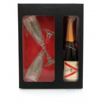 Champagne de Castellane - Brut Geschenkset 375ml + 2 Glazen