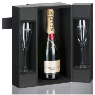Moet & Chandon Brut Imperial Geschenkset met twee glazen