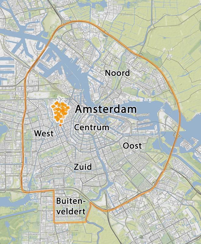 postcode gebieden fietskoeriers
